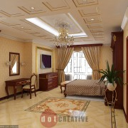 интерьер спальни в коттедже в слассическом стиле