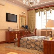 шикарный интерьер спальни классический в загородном доме