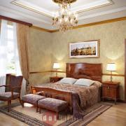спальня в стиле ампир в коттедже