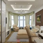 интерьер спальни в современном стиле в коттедже
