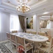 дизайн интерьера кухни в стиле модерн в коттедже