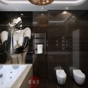 ванна дизайн интерьер хай-тек коттедж
