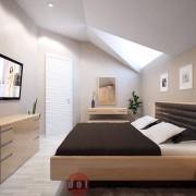 оформление спальни в современном стиле коттедж