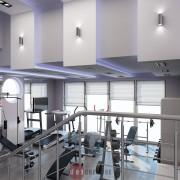 интерьер тренажерного зала в коттедже