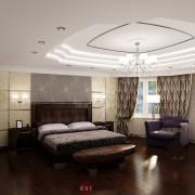 прекрасный дизайн спальни в стиле ар деко в коттедже
