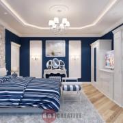 интерьер спальни в стиле модерн в доме