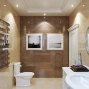ванная ар-деко интерьер в коттедже