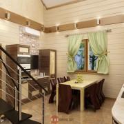 интерьер дизайн в бревенчатом доме из сруба