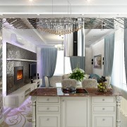 интерьер гостиной в квартире стиль ар деко