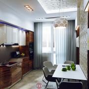 современный дизайн кухни в квартире