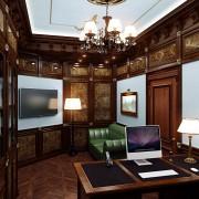 интерьера кабинета в коттедже