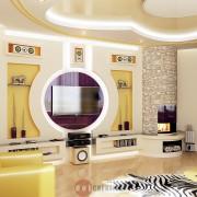 отличный дизайн коттеджа интерьера гостиной