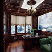 шикарный интерьер кабинета в загородном доме
