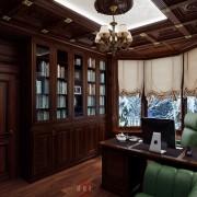 классический кабинет в коттедже